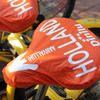 PVC bike saddle covers with promotional print image
