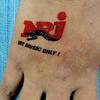 Tillfälliga tatueringar A7 storlek (74x105mm) med eget tryck image