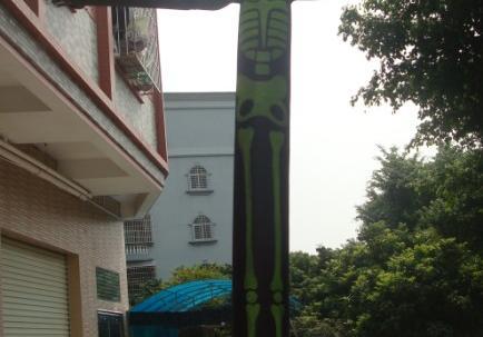 5 meter lång sky dancer med fläkt tryckt med er design image