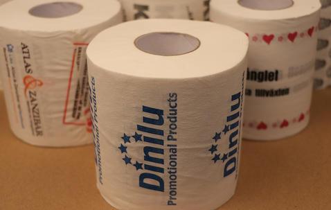 Toalettpapper med eget tryck image