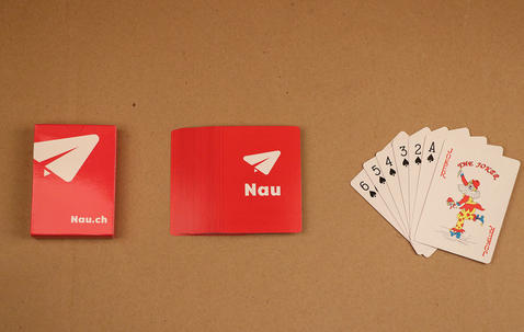 Poker sized custom printed playing cards (63 x 88 mm) image