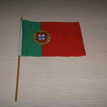 Liten handhållen flagga med eget tryck 20x30cm  image