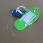 Flip-Flop formade bagagelappar i mjukt PVC 112 x 48mm med egen logga image